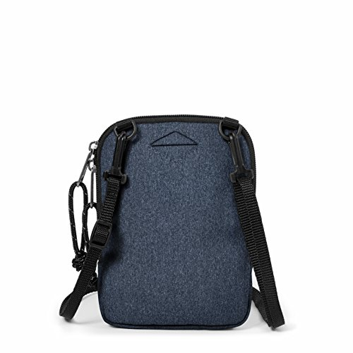 Eastpak Buddy Borsa a Tracolla, 0.5 L, Nero (Black Denim) Blu (Double Denim)