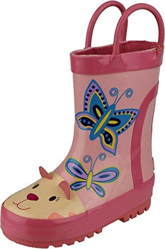 Cotswold Unisexe pour enfant Motif pluie flaque de coffre en caoutchouc supérieur Chaussures Rose