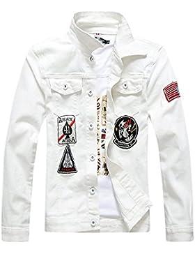 Hombre Chaqueta De Vaquera Con Manga Larga Jean Chaqueta Tops Jacket Classic