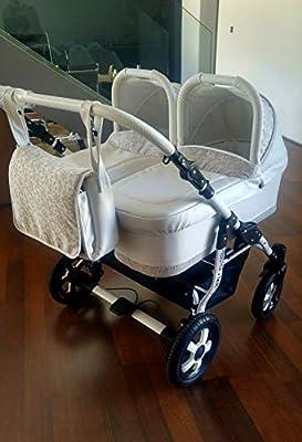 Carro gemelar 3en1. Desde naciemiento hasta 3 años. Capazos + sillas + sillas de coche. BBtwin cochecito polipiel doble trio en paralelo
