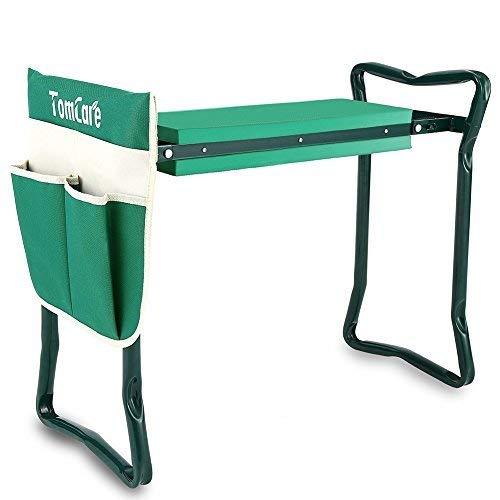 tomcare Kniebank für den Garten Sitz Gartenbank Garten Hocker zusammenklappbar Hocker mit Werkzeug Tasche EVA-Schaum Pad Outdoor tragbar Kniebank für den Garten (large-21.65