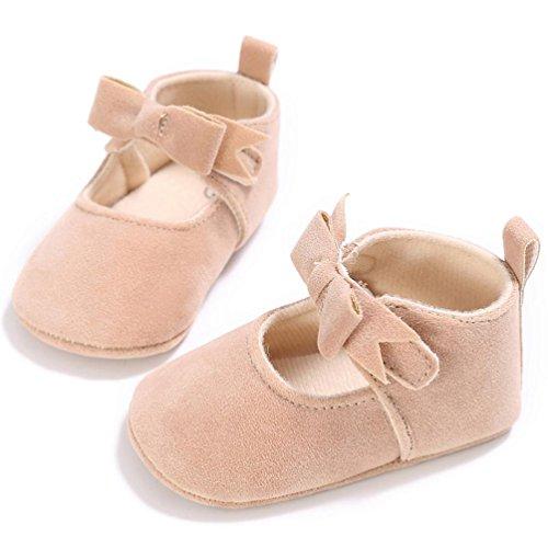 Saingace Krabbelschuhe,Kleinkind Mädchen Krippe Schuhe Neugeborene Blume Soft Sohle Anti-Rutsch Baby Sneakers Beige