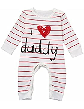 Omiky® Säugling Baby Mädchen Brief Drucken Langarm Jumpsuit Kleidung
