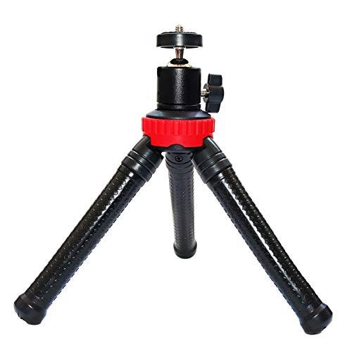Byjia Flexibles Kamera-Telefon-Stativ, Smartphone-Mini-Selfie-Stativ, Kompatibel mit iPhone/Android,Red,L