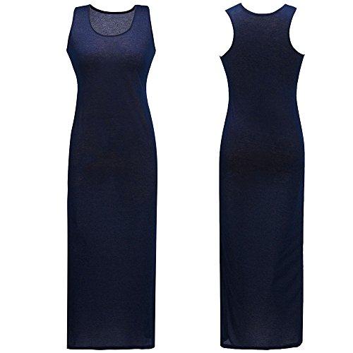 Culater® Femmes Casual Boho Longues Robes Longues Robe de Plage Bleu