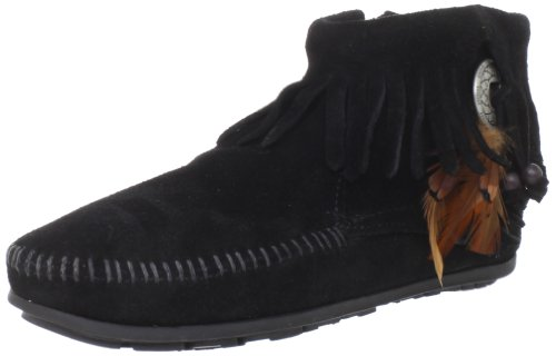 Minnetonka - Concho Feather Boot, Stivali Mocassino da donna Nero (Black 0)