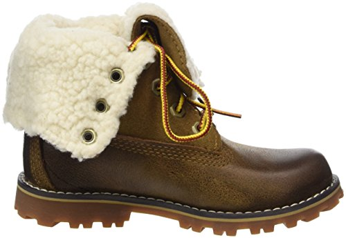Timberland Kid s 6 Inch Waterproof Shearling Boot   Dark Sudan Brown   11 5 UK