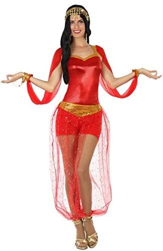 Bauchtänzerin Sexy Kostüm - Fancy Me Damen Bauchtänzerin Sexy Rot Arabische Nächte Kostüm Outfit UK 8-18