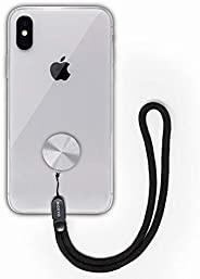 MOXYO Zigi Band Phone Wrist Lanyard for Smartphones - Anodized Silver with Black strap