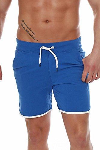 Große Casual Shorts (Happy Clothing Herren Hose kurz Shorts Bermuda Jogginghose Sommer Pants Stoffhose Sweathose, Größe:XL, Farbe:Blau)
