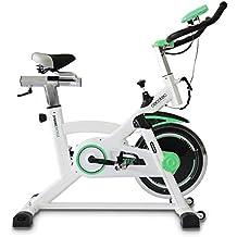 Cecotec Bicicleta de Spinning Extreme Uso Profesional. Pulsómetro. Pantalla LCD, Resistencia Variable.