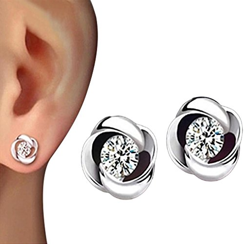 Preisvergleich Produktbild Damen Ohrringe Schmuck Ohrstecker stecker DAY.LIN 1Pair Beautiful Silvering Crystal Shiny Ear Stud Earrings Women Fashion