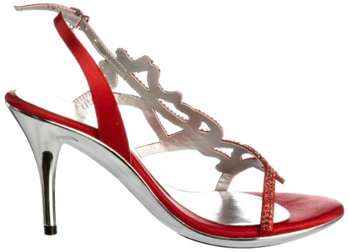 Unze Evening Sandals, Damen Sandalen Rot (L18227W)