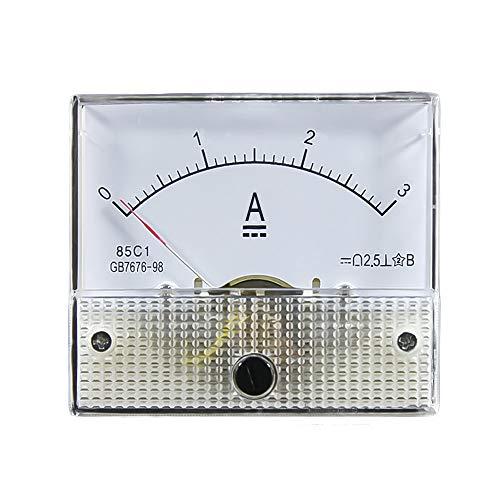 85C1 DC Kunststoff Analog Zeiger Amperemeter Ampere Meter Amp Panel 1A 2A 3A 5A 10A 20A 50A 100A Mechanischer Strommesser 1 Stücke 64 * 56mm (Ampere-meter)