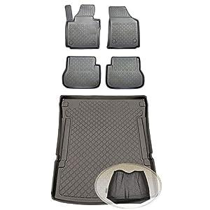 ZentimeX Z393213 Set Kofferraumwanne Gummifußmatten + Klettnetztasche (Laderaumwanne, Kofferraummatte, Automatten)