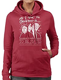 Coto7 All I Want For Christmas Is Kim and Trump To Be Mates Women s Hooded  Sweatshirt 2226f20087cb0