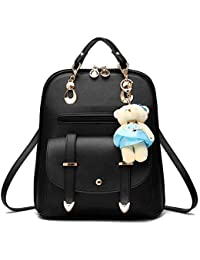 c61f72d30ce4 Premium 2018 New Women Leather Backpacks Students School bags for Girls  Teenagers Travel Rucksack Black Color