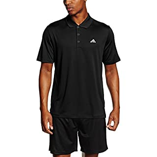 adidas Men's Performance LC Polo Shirt-Black, Small