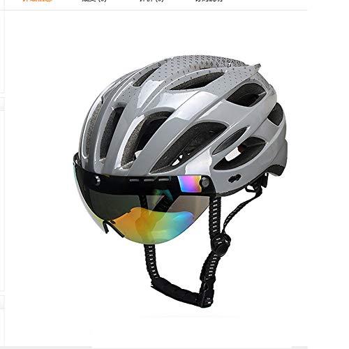Xbssg Fahrradhelm Schutzbrille integrierte magnetische Schutzbrille Rennrad Mountainbike Helm Radkappe Ausrüstung