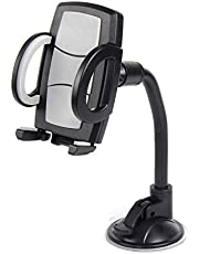 Suzec Gravity Car Phone Mount, Washable Strong Sticky Gel Pad With One-Touch Design Dashboard (Black)
