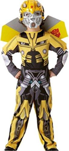 erdbeerloft -Jungen Karneval Komplettkostüm Transformers Bumble Bee Polster Anzug, gelb schwarz, 6-8 (Kostüme Bee Bumble Junge)