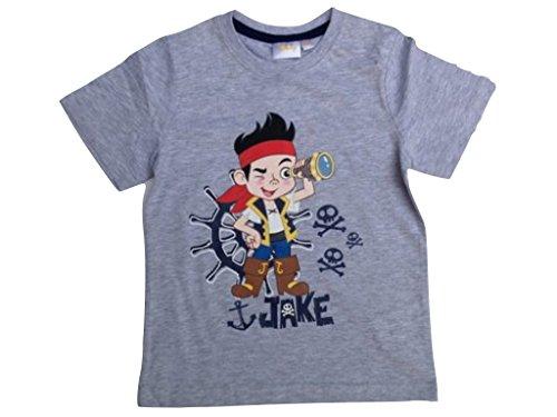 Jake und die Nimmerland Piraten T-Shirt grau (98 - ca. 3 Jahre) (Aus Jake Neverland Piraten Die Und Jake)