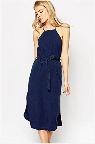 ylsz-la-blue-cross-vestito-scollato-dietro-al-collo-la-croce-top-senza-maniche