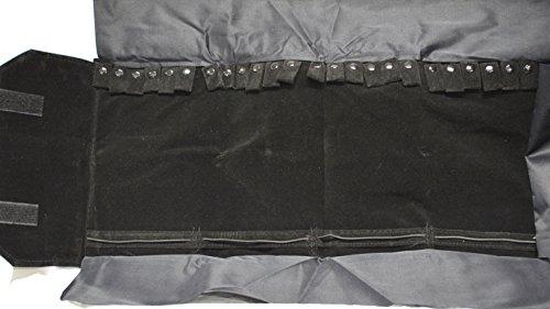 Veranstalter Schmuck Rolle Roll-Halsketten, Armbänder Velours Schwarz (Armband Velour)