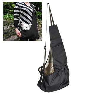 Black Pet Dog Puppy Strap Sling Shoulder Bag Carrier (M)