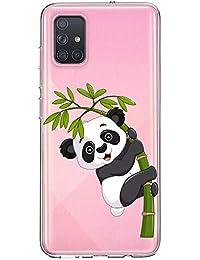 Oihxse Cristal Compatible con Samsung Galaxy S8 Plus Funda Ultra-Delgado Silicona TPU Suave Protector Estuche Creativa Patrón Panda Protector Anti-Choque Carcasa Cover(Panda A3)