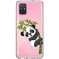 Oihxse Cristal Compatible con Samsung Galaxy A40s Funda Ultra-Delgado Silicona TPU Suave Protector Estuche Creativa Patrón Panda Protector Anti-Choque Carcasa Cover(Panda A3)