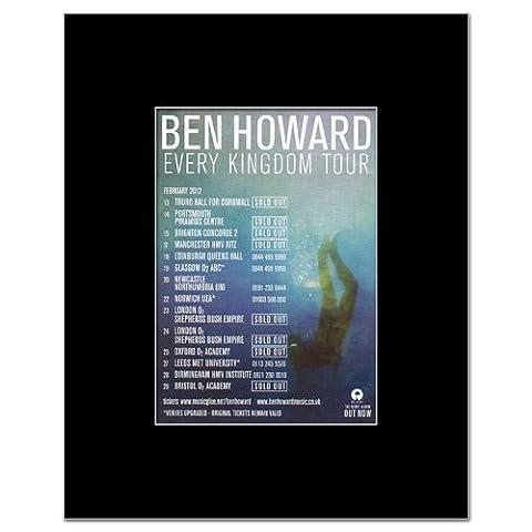 BEN HOWARD - UK Tour 2012 Matted Mini Poster - 13.5x10cm