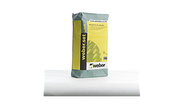 Weber set plus colla per piastrelle kg colore bianco amazon