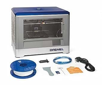 Dremel 3D-Drucker Idea Builder, Filamentspule weiß, Stromkabel, USB-Kabel, SD-Karte, Spulenarretierung, Druckmatte, Nivellierblatt, Reinigungsdorn, Karton