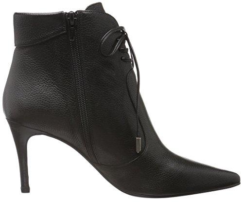 Zinda 2663, Bottes courtes avec doublure chaude femme Noir - Noir