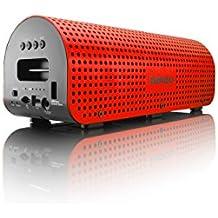 Lenco GRID-7 - Altavoces portátiles (2.1 system, Inalámbrico, Batería, Bluetooth, Rojo, Bluetooth)