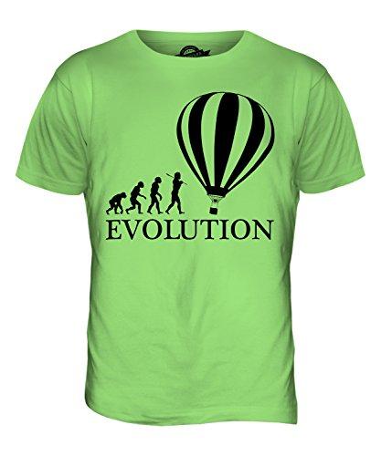 CandyMix Heißluftballon Evolution Des Menschen Herren T Shirt Limettengrün