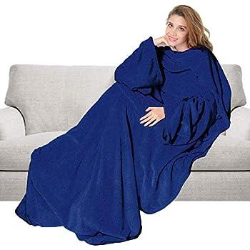 2 tailles Norme CE 3 coloris Vivezen /® Couverture polaire plaid int/égral avec manches et poche