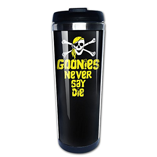 Goonies Never Say Die Pirate Skull Stainless Steel Mug Flask