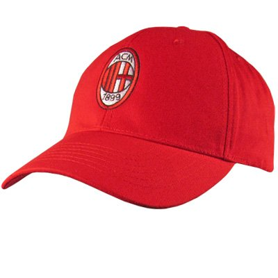 AC Milan Mailand Fußball Mütze rot Hut cappellino Baseball Cap Hat red mit Logo - Milan-bekleidung Ac