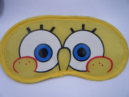 Image of Spongebob Square Pants novelty eye sleeping travel mask cover - by Fat-catz-copy-catz