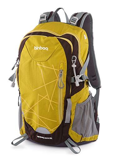 Hauptstadtkoffer blnbag S1-Leichter Wanderrucksack, Sportrucksack mit Regenschutz, FahrradrucksackTagesrucksack für Camping,Rucksack mit Hüftgurt, Unisex 30 Liter, Inka Gold