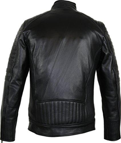 Motorrad Lederjacke aus robustem Rindleder (L) - 3