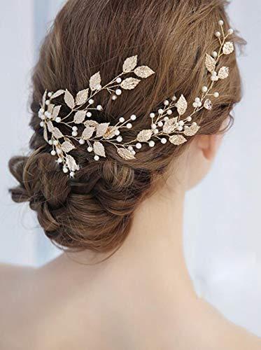 Deniferymakeup fermaglio per capelli da sposa con foglie di vite color argento oro e oro rosa accessorio per acconciature da matrimonio