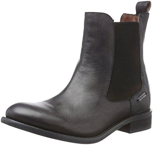 Pepe Jeans Damen Seymour Old Chelsea Boots Schwarz (Black 999)