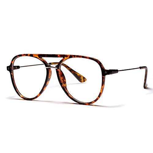 YMTP Große Gläser Frames Mens Transparente Brillen Rahmen Für Frauen Klassische Optischen Rahmen, Leopard
