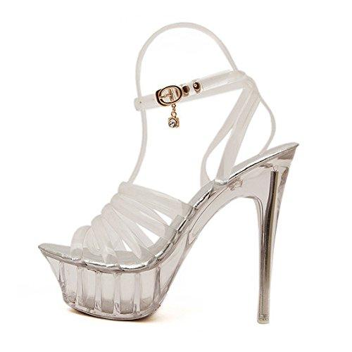Tacchi Alti Piattaforma Estrema Sexy Trasparente Tacco A Spillo Sandali Per  Le Donne Scarpe Da Ballo 5273c1f03d2
