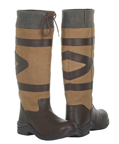 Toggi Nevada impermeabile da donna lunga Country-Stivali Marrone - Cedar Brown