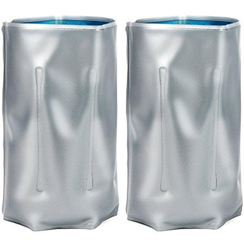 COM-FOUR® 2x Flaschenkühler, Kühlmanschette zum Kühlen von Flaschen, mit Klettverschluss (02 Stück - 33.5 x 15 cm)