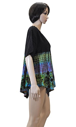 Damenmode Sommerset bequem luftig leicht weites Shirt Top Rock Kleid Haremshose 42465 - Shirt